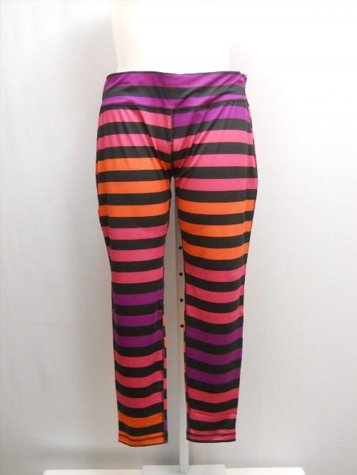 22.35$  Buy here - http://viwez.justgood.pw/vig/item.php?t=oyd93i55453 - SIZE XXL Womens Athletic Leggings DANSKIN Striped Fitted Moisture Wicking Hidden Pocket 22.35$