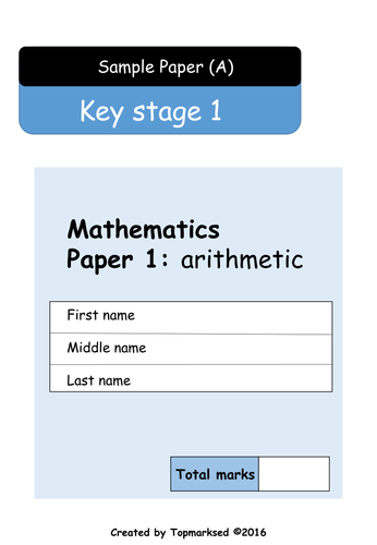 2016 Ks1 Maths Paper 1 Arithmetic Questions And Answers Maths Paper Ks1 Maths Math
