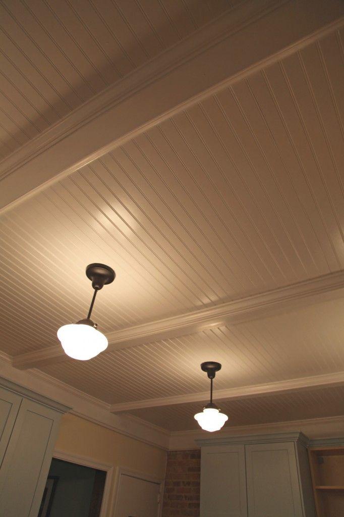 finished beadboard paneled ceiling w bronze finished. Black Bedroom Furniture Sets. Home Design Ideas