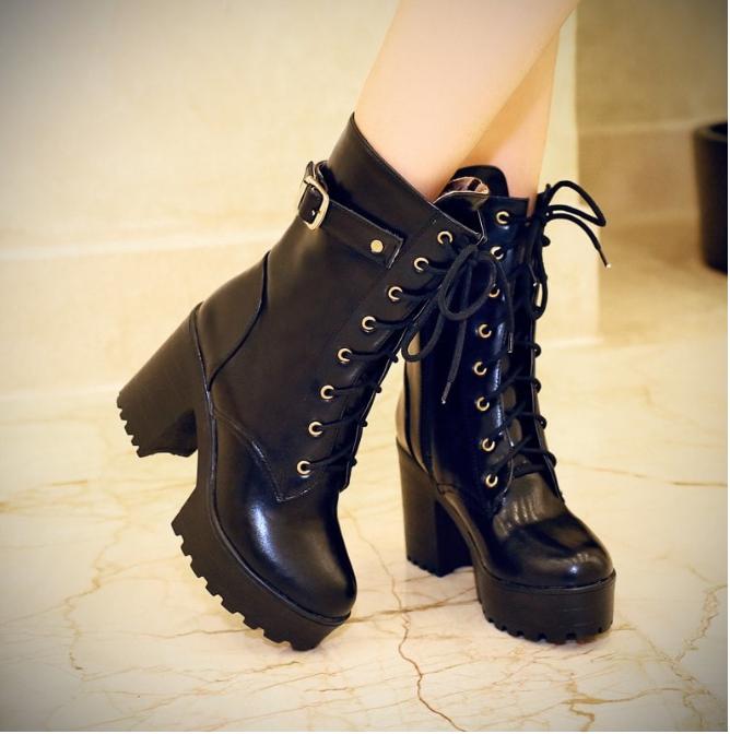 nueva alta calidad zapatos elegantes comprar barato ✅Os gustan?💗A mi me encantan estas botas militares para mujer ...