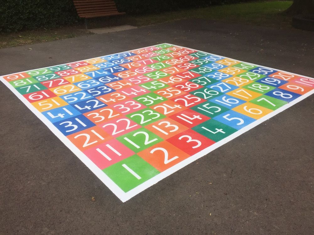 1-100 Playground Number Grid | Playground Markings Board Games and ...