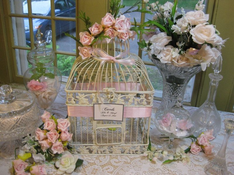Decorating Bird Cages For Wedding Cage Large Card Holder Shabby Chic Decorative