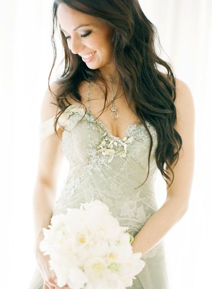Pale seafoam green wedding dress from Trash Couture | The Dress ...