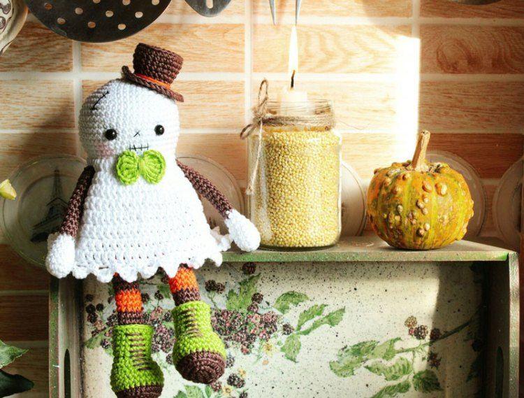 Halloween ghost crochet pattern | Patrones amigurumi, Patrones y Deberes