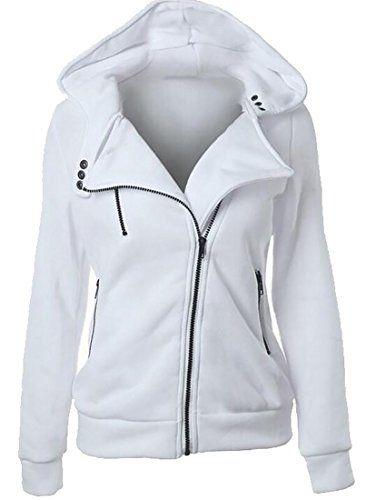 Keaac Womens Zipper Open Hoodies Sweatshirt Long Jacket Outwear Pockets
