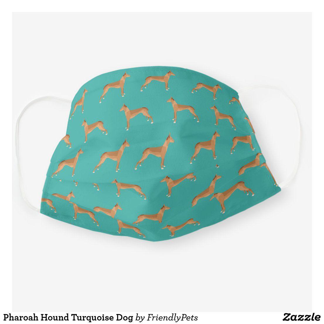Pharoah Hound Turquoise Dog Cloth Face Mask