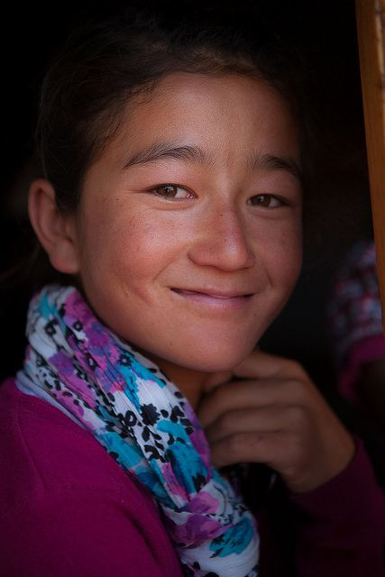 """""""A girl at Sani Festival, Zanskar valley, India Taking advantage of large number of visitors at Sani festival, we saw her collecting funds for restoration of the 11th C. monastery..."""