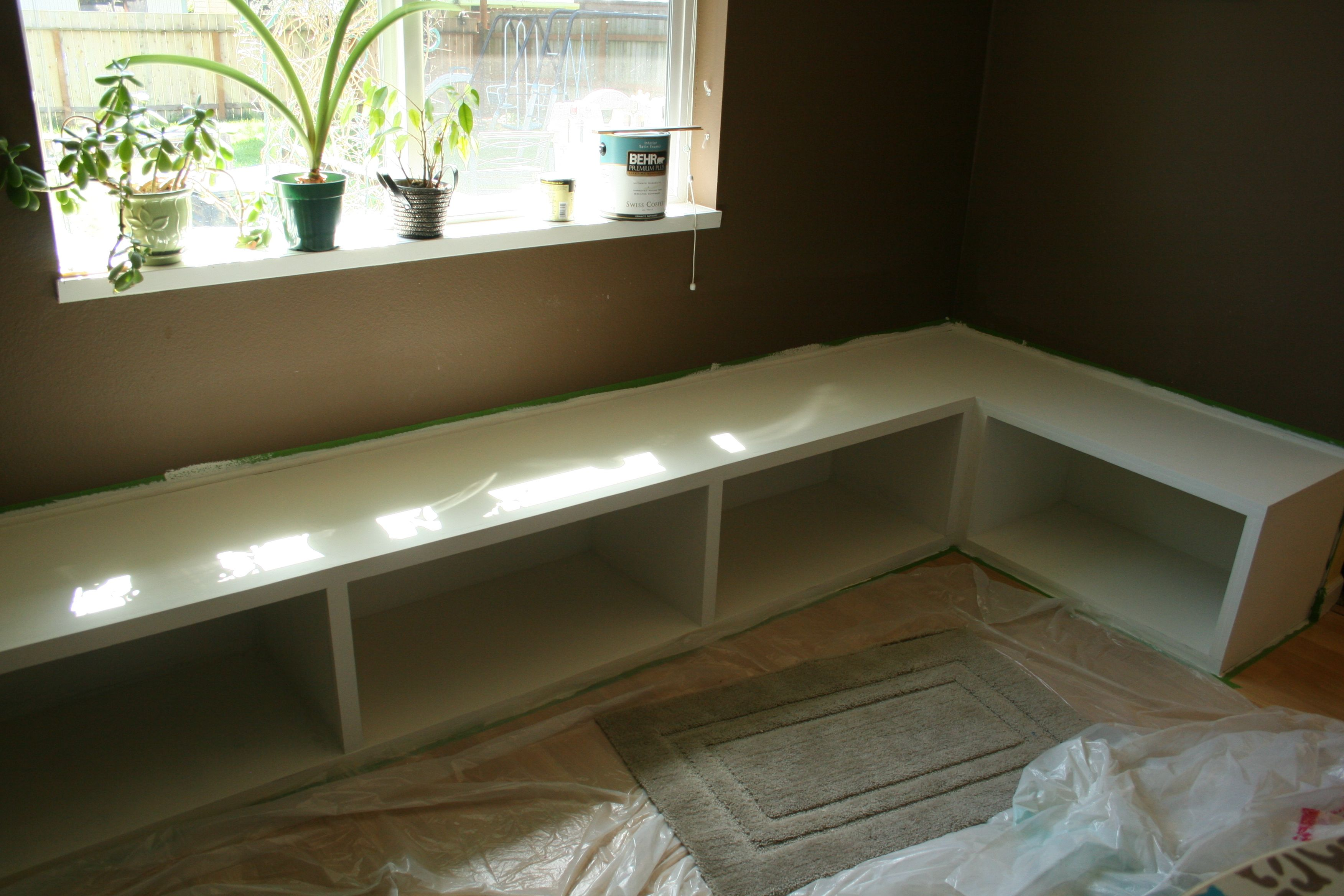 Maybe Home Diy Open Plan Kitchen Living Room Dining Room Banquette