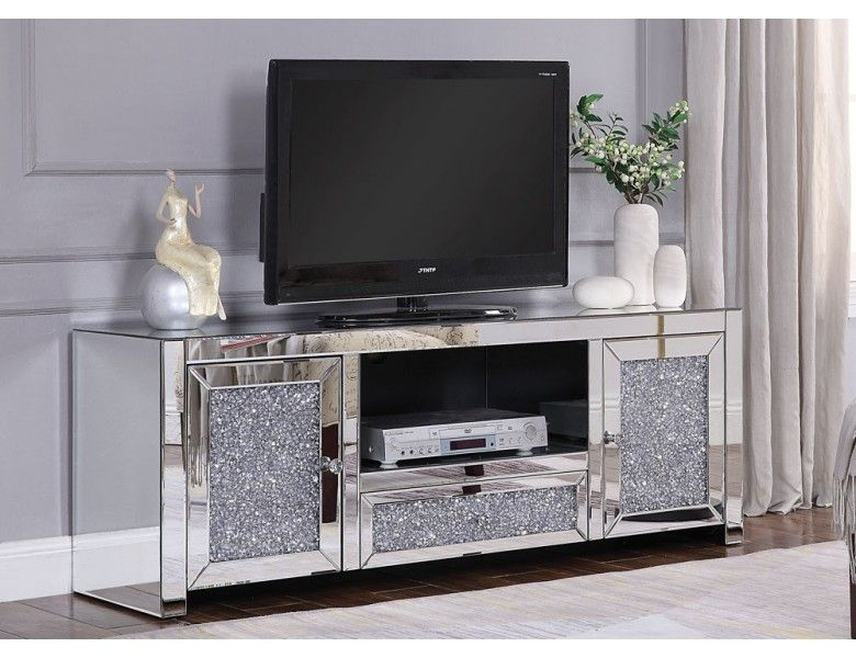 Marlow Mirrored Tv Stand Mirror Tv Stand Mirror Tv Modern Furniture Living Room
