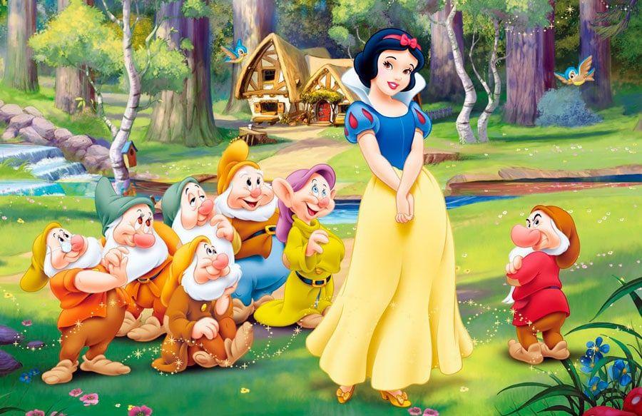 Cuento Infantil Blancanieves Y Los Siete Enanitos Blancanieves Y Los Siete Enanitos Los Siete Enanitos Fondo De Pantalla De Blancanieves