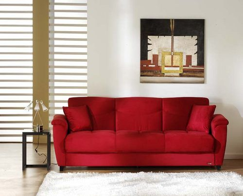 Aspen Rainbow Red Convertible Sofa Bed by Istikbal Furniture ...