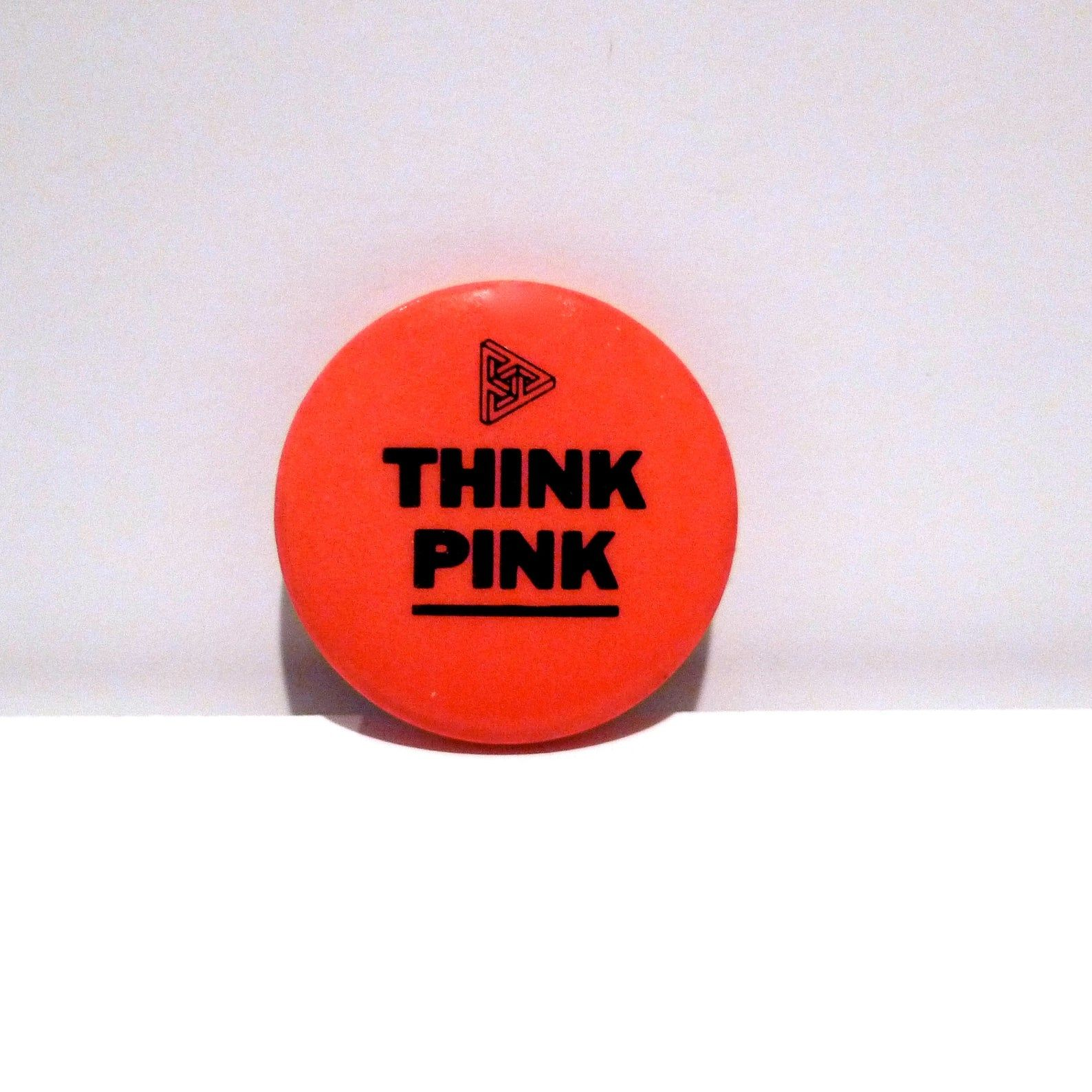 The Fabulous Poodles Think Pink Pinback 1979 Or The Orb