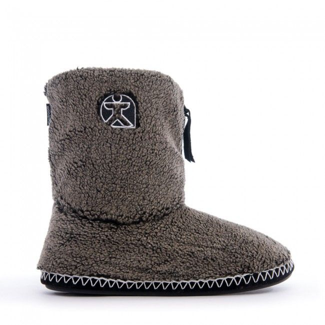 Crowe Snow Tipped Sherpa Fleece Slipper Boots Washed Black For Men At Bedroom Athletics