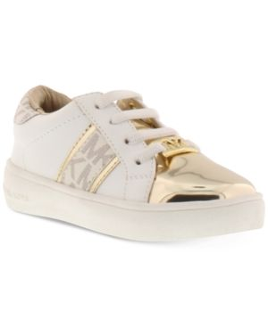 680c07ca555 Michael Kors Toddler Girls Ivy Frankie Sneakers - White 10 Toddler
