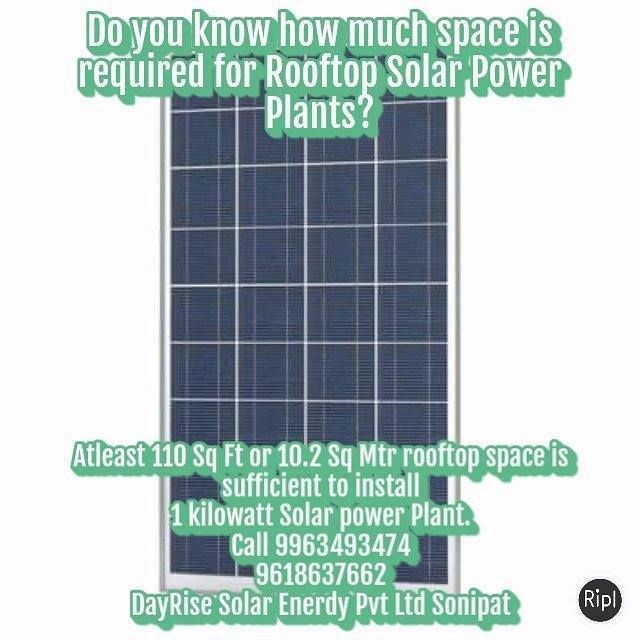 Atleast 110 Sq Ft Or 10 2 Sq Mtr Rooftop Space Is Sufficient To Install 1 Kw Solar Power Plant Call 9963493474 9618637662 Solar Power Plant Solar Solar Energy