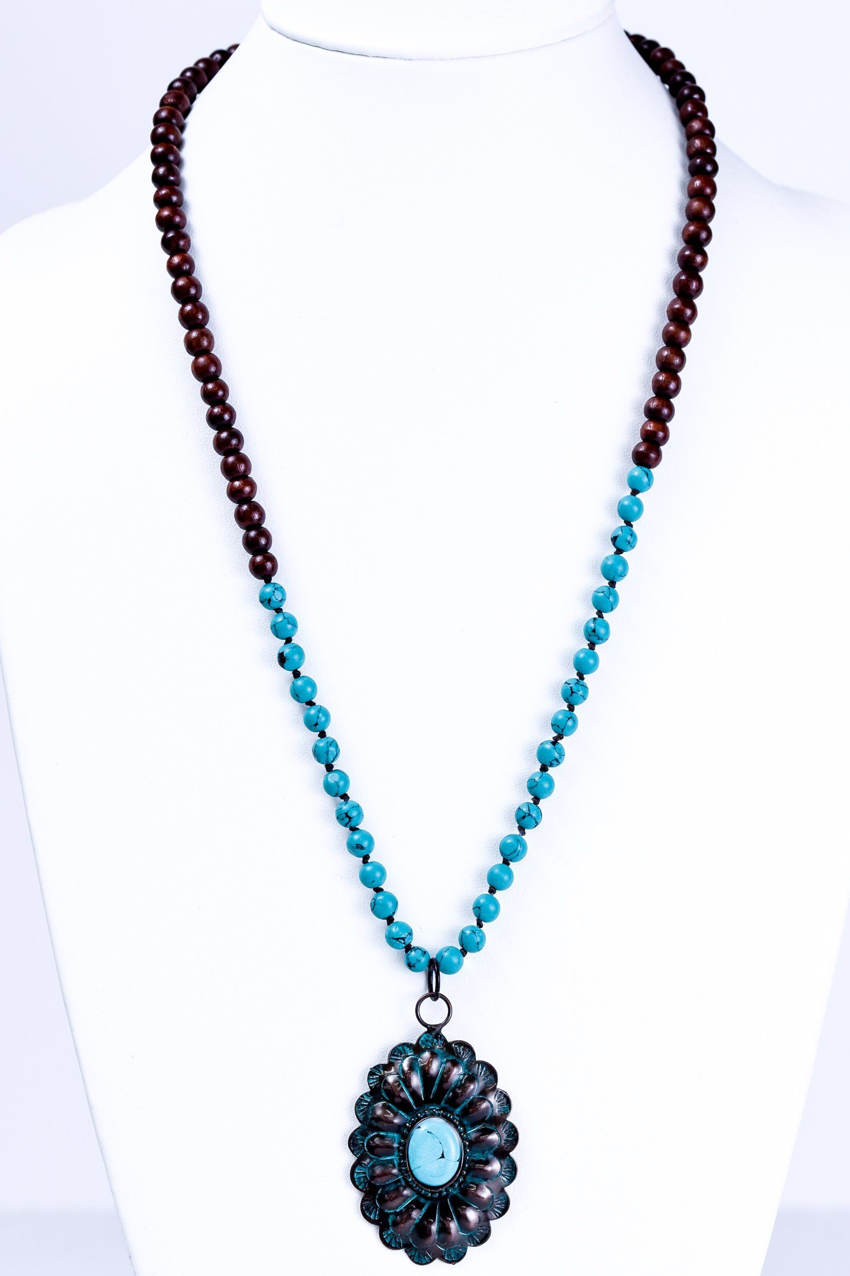 blue judith jewelry silver ripka oval in medallion sterling gallery lyst necklace product metallic