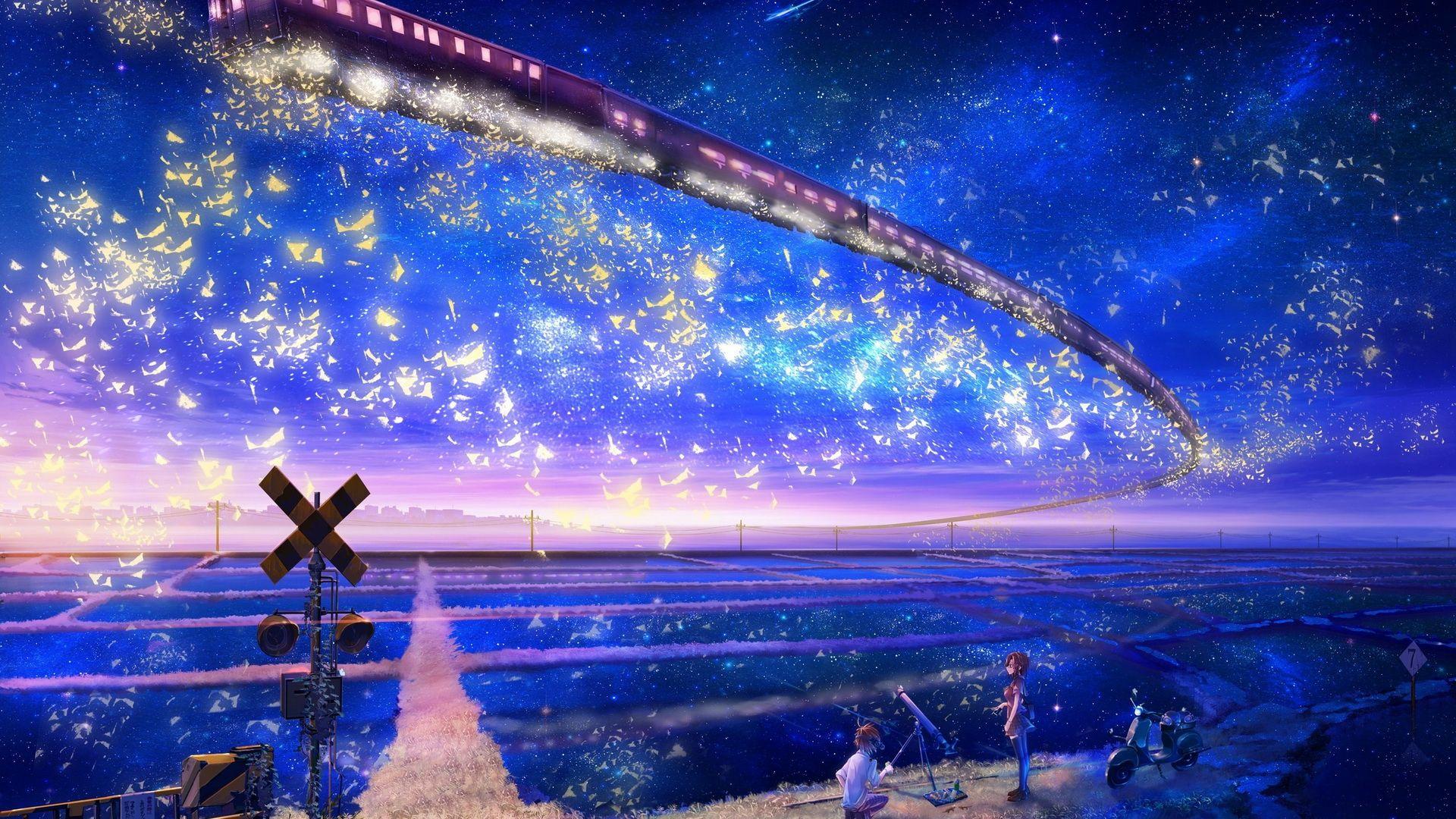 Stunning Anime Scenery Wallpaper 42595 In 2021 Anime Art Beautiful Anime Scenery Wallpaper Anime Scenery