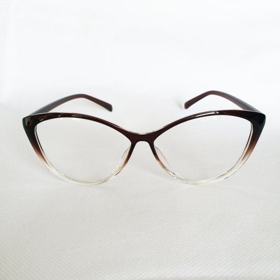 High Quality Womens Eye Glasses Frames 50s Trendy Brown Hipster ...