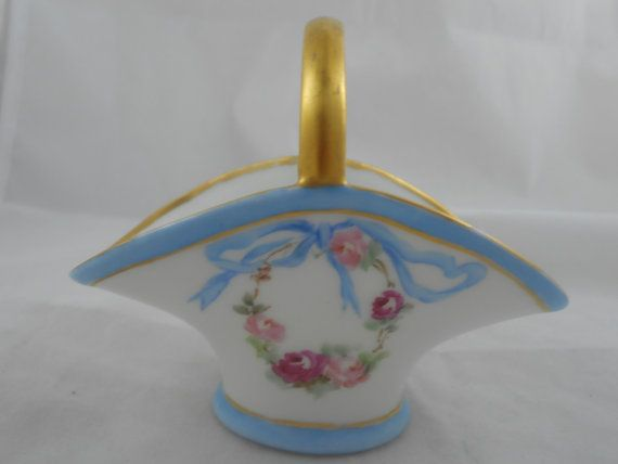 Rare Early Vintage Noritake Nippon Basket by Ourantiquefinds