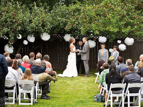 small backyard wedding decoration ideas | Sammi & Jesse's ...