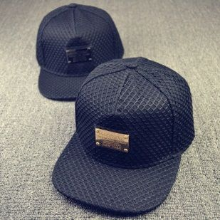 Acessórios de moda Gorras ferro Net para Unisex bonés de beisebol Hip Pop  preto Snapback 4c2250ae887