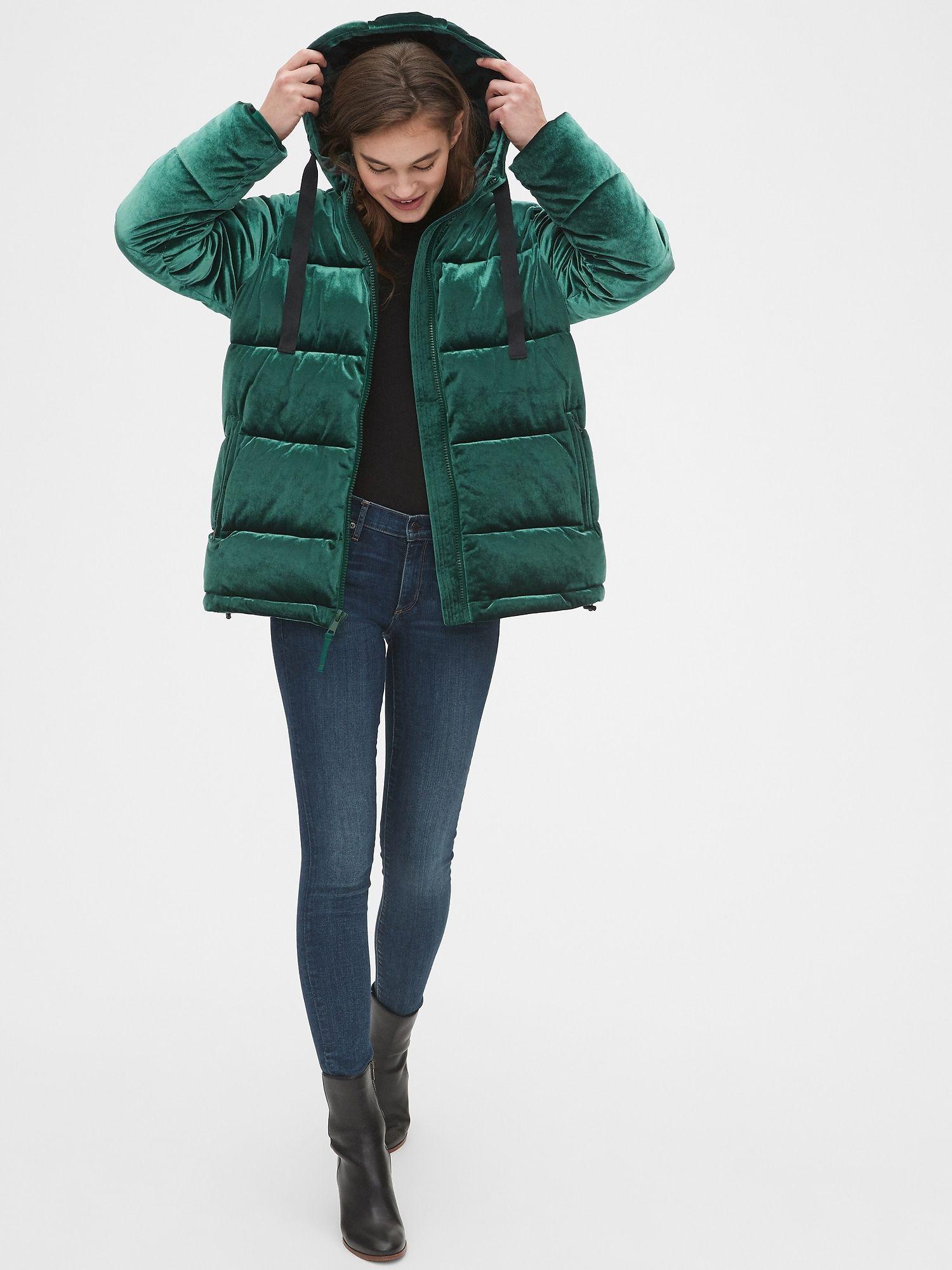 Coldcontrol Max Hooded Velvet Puffer Jacket Gap Scarf Casual Fashion Velvet Jacket [ 2000 x 1500 Pixel ]