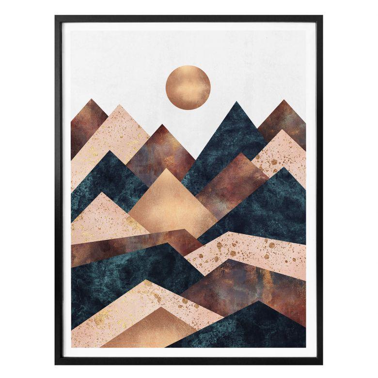 Affiche Fredriksson Automne à La Montagne Wall Art Fr Art Graphic Art Print Graphic Art