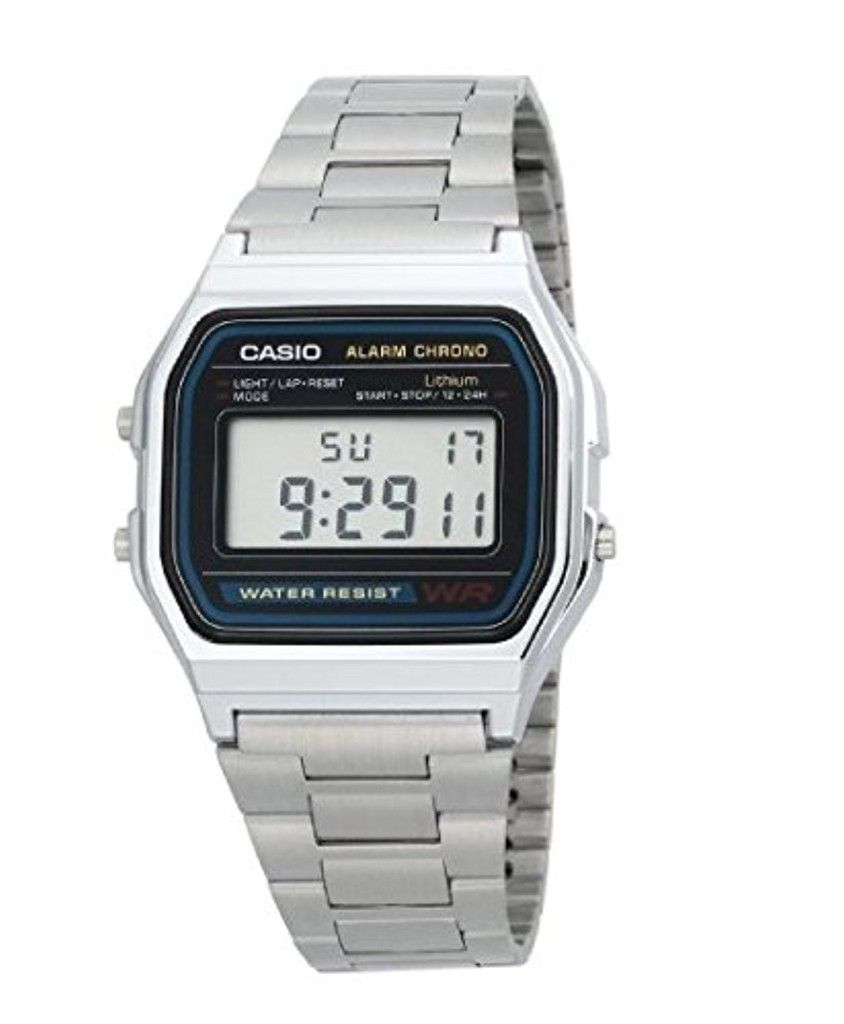 Casio A158wa Montre 1d Vintage Quartz Digital Cadran Mixte qSUMVpz