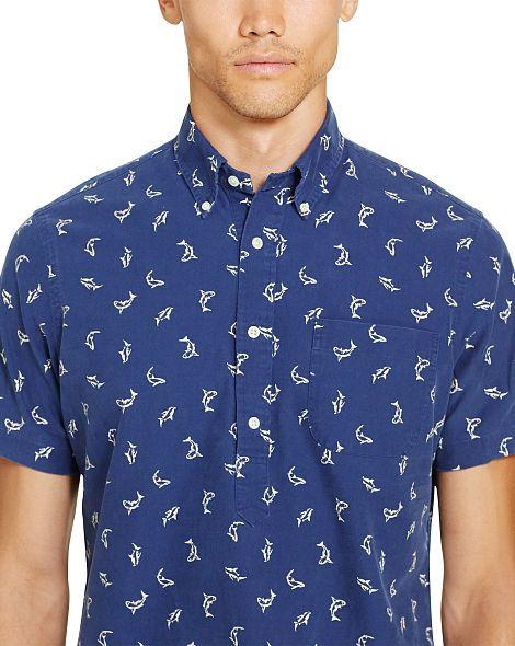 Shark-Print Cotton Shirt