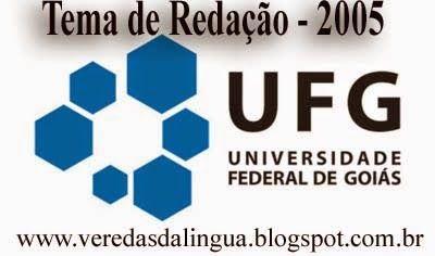 Veredas da Língua: UFG - Redação