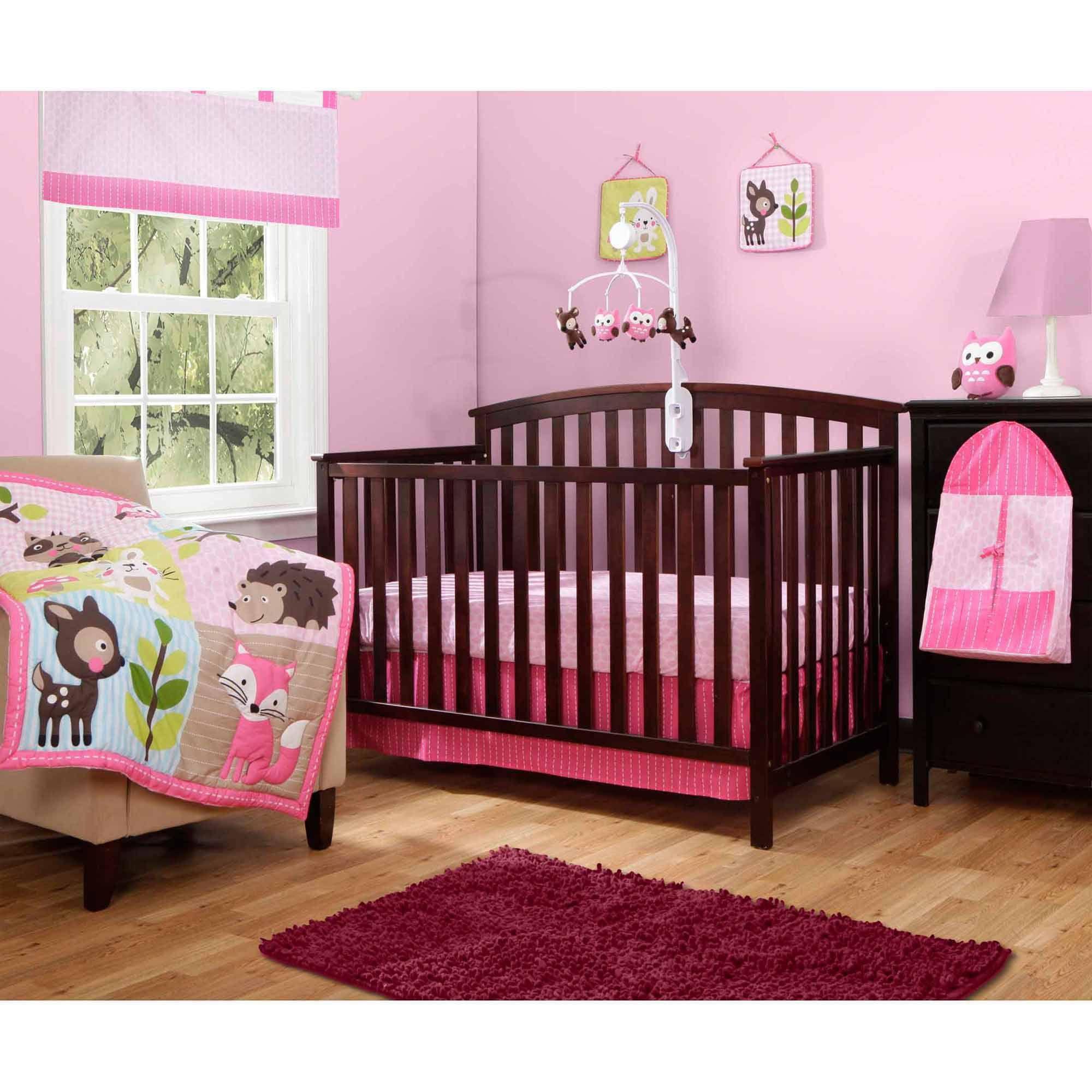 Baby Boom Woodland Girl 10 Piece Crib Bedding Set Walmart Com