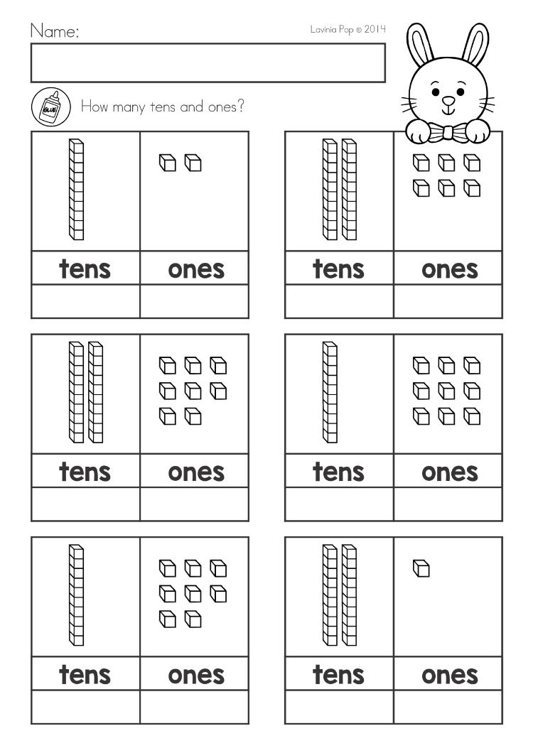 Spring Kindergarten Math And Literacy Worksheets Activities Distance Learning Place Value Worksheets Tens And Ones Worksheets Kindergarten Worksheets