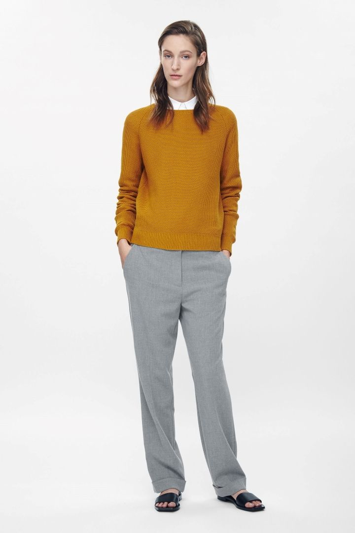 COS | Textured cotton jumper