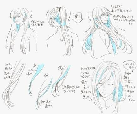 Best drawing hair anime how to 15+ Ideas -   10 long hair Drawing ideas