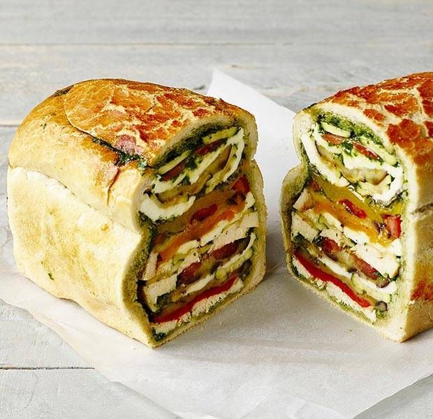 Stuffed layered loaf | Recipe | Picnic foods, Food ...