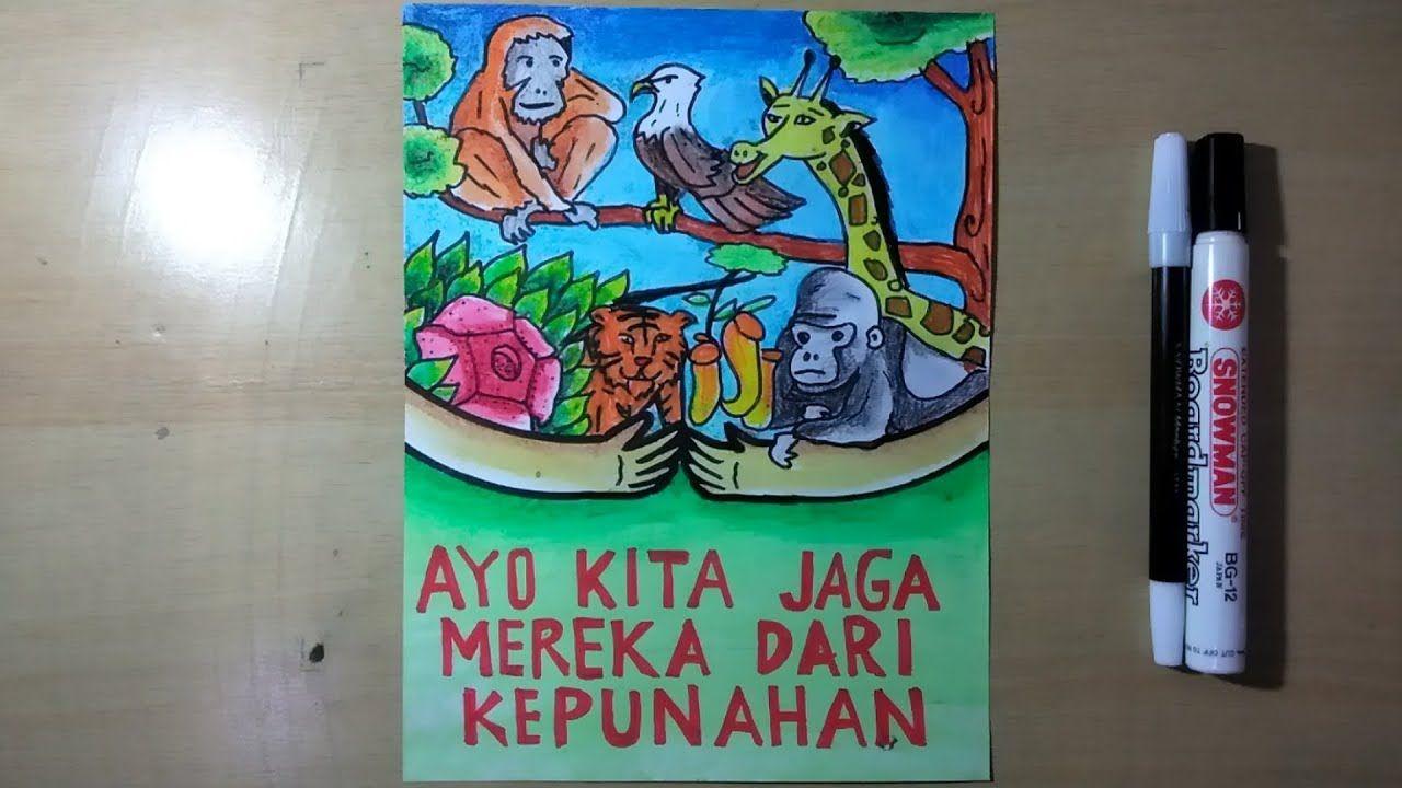Poster Melestarikan Hewan Dan Tumbuhan Gambar Poster