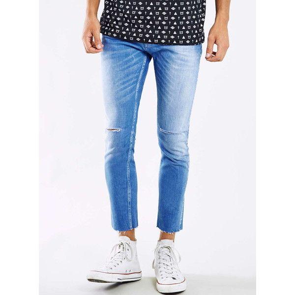 Topman cropped stretch skinny jeans