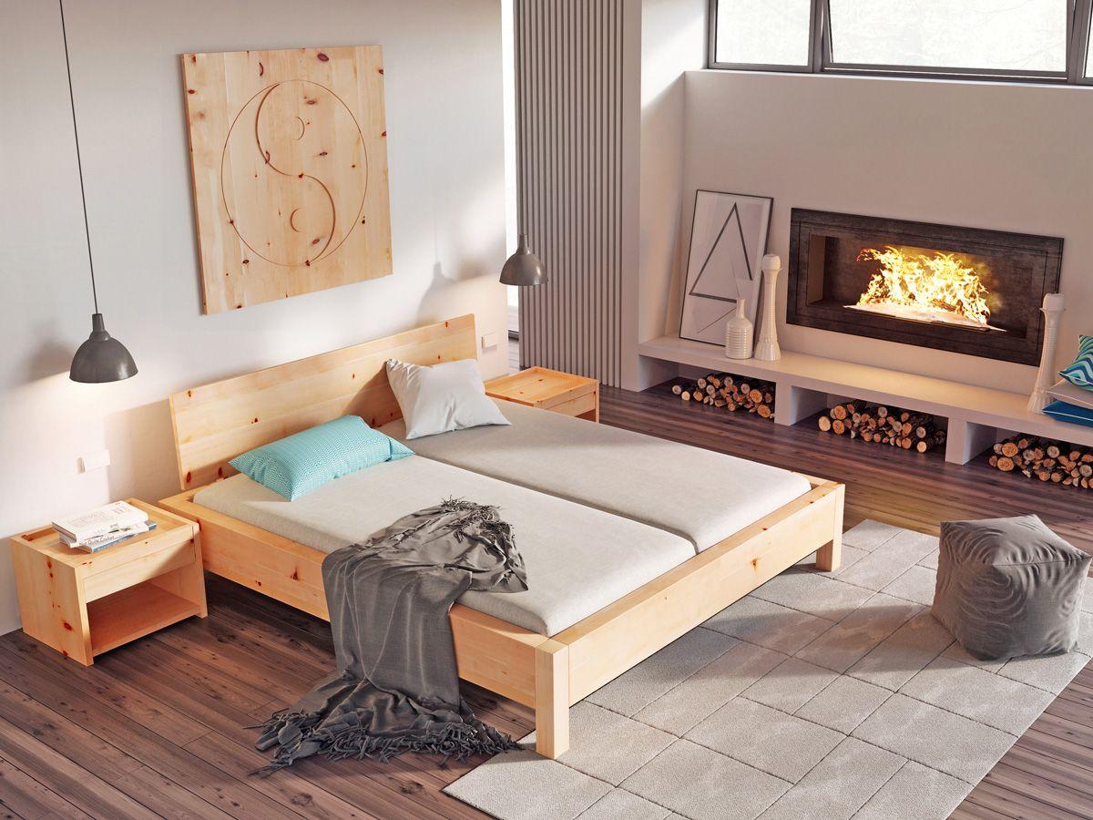 """zirbenschlafzimmer mit zirbenbett """"kurt"""" 180 x 200 cm, Schlafzimmer entwurf"""
