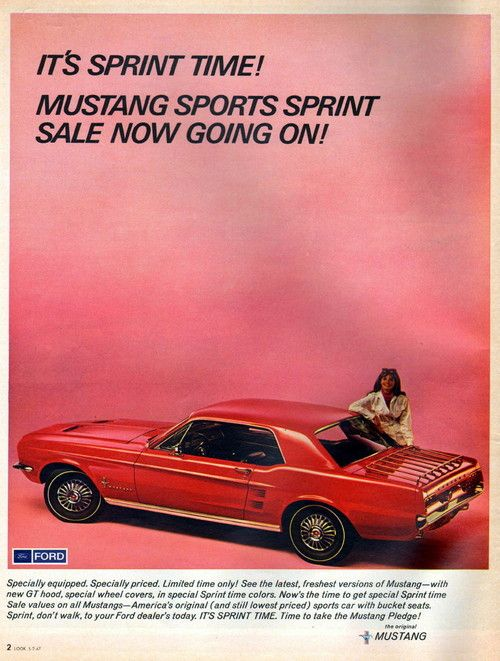 VINTAGE ORIGINAL AD SOMETHING RACY FOR HARRY 1966 FORD MUSTANG HARDTOP