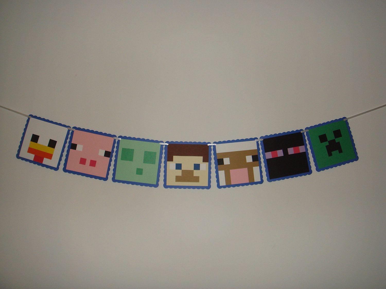 Minecraft Party Decorations Minecraft Birthday Party Supplies Buscar Con Google Minecraft