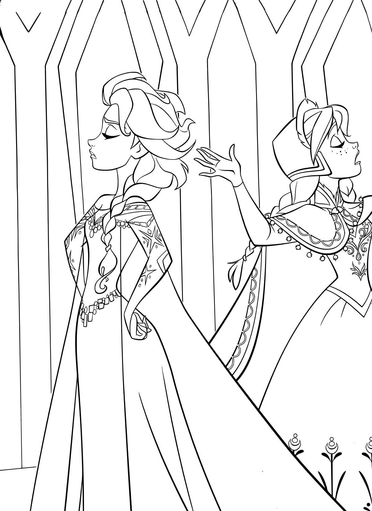 Frozen Anna Coloring Page Frozen Elsa And Anna Coloring Pages Getcoloringpages Frozen Coloring Pages Elsa Coloring Pages Frozen Coloring