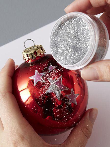 Die besten 25 weihnachtsbaumkugeln ideen auf pinterest blattgold weihnachten mit kindern und - Basteln mit styroporkugeln weihnachten ...