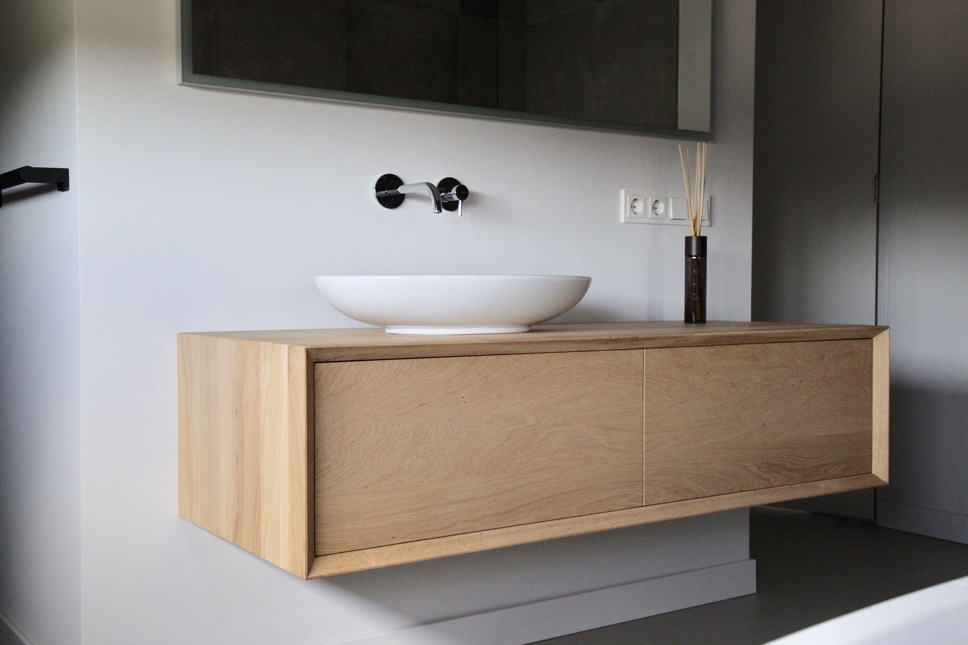 Badkamermeubel Op Maat : Betaalbare eiken badkamermeubel op maat mk maatwerk uit
