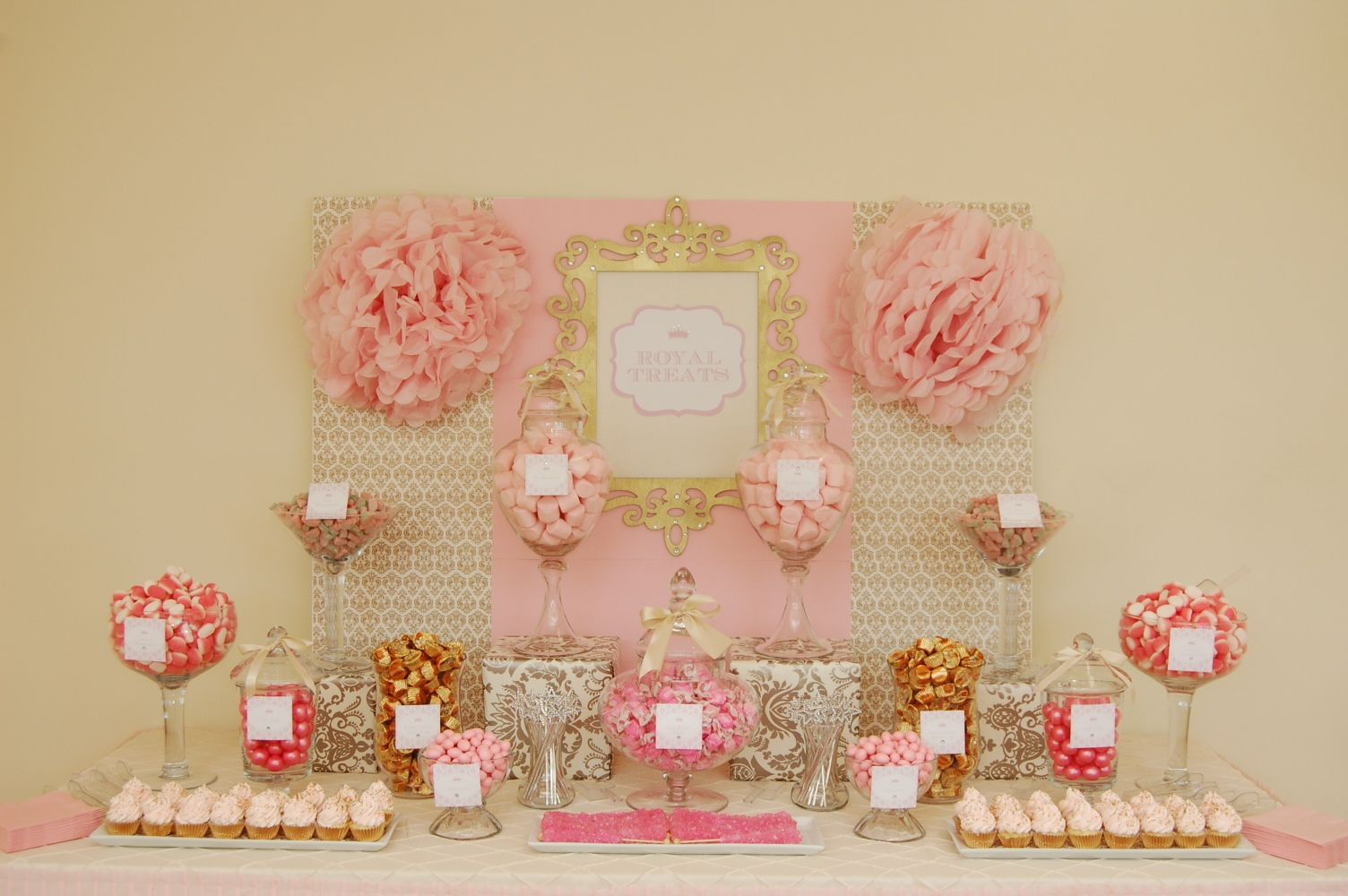 Princess Dessert Table Wedding Candy Candy Theme Quinceanera Pink