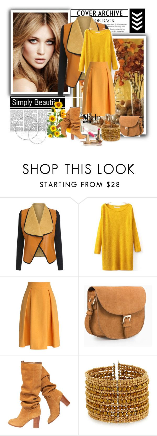Shein Split Yellow Sweater