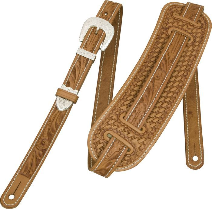El Dorado Vintage Hand Tooled Leather Guitar Strap Leather Guitar Straps Leather Tooling Guitar Strap