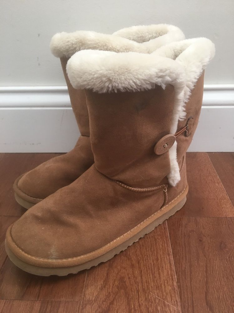 5e74a430b56 Ugg Bailey Button Boots Women Size 8 Camel Brown Soft Lining  fashion   clothing  shoes  accessories  womensshoes  boots (ebay link)