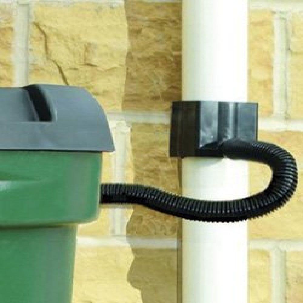 straight water butt rain diverter kit fits square u0026 round pipe no tap - Rain Diverter