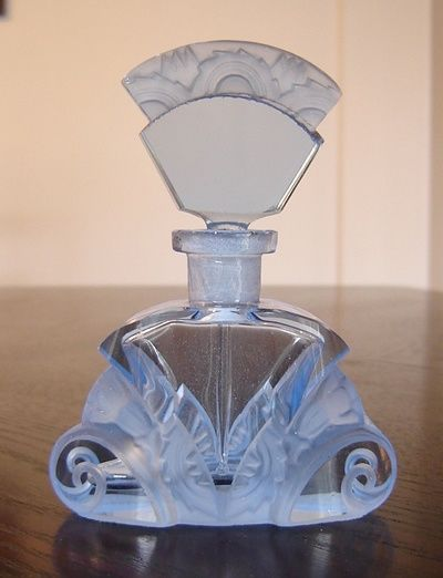 Vintage blue scent perfume bottle