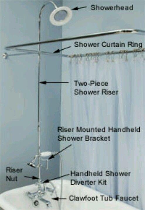 Shower On A Claw Foot Tub Clawfoot Tub Shower Shower Tub